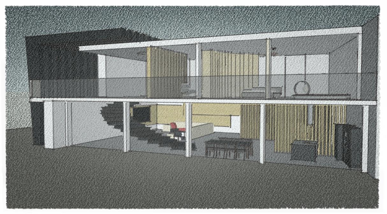 дом в стиле минимализма