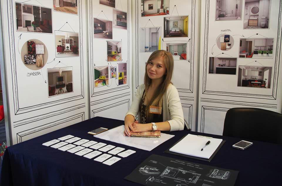 Ольга Иванова на интерьерной выставке в Морпорту, Одесса