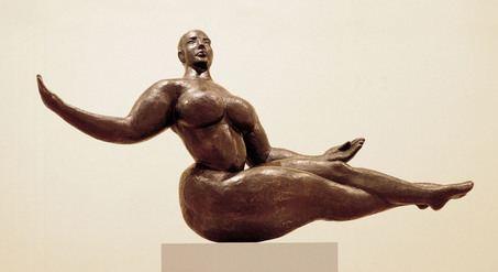 "Гастон Лашез: скульптура ""Плывущая женщина"""