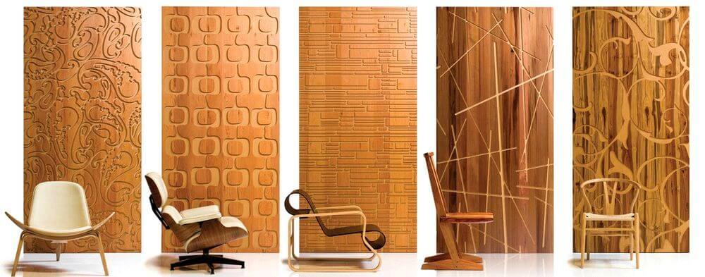 Деревянные 3D панели